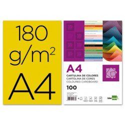 Cartulina Liderpapel color oro a4 180 g/m2