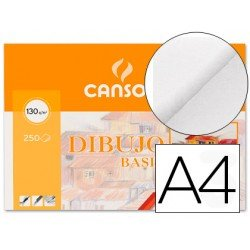 Papel dibujo marca Canson 210x297 mm 130g/m2
