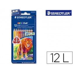 Lapices de colores Staedtler modelo Noris Club triangulares 12 lapices finos