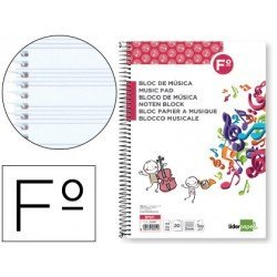 Bloc musica Liderpapel Folio vertical interlineado 3mm