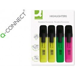 Rotulador fluorescentes Q-Connect Pack 4