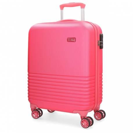 Maleta de cabina 55x36x20 cm Rigida El Potro Ride de color Rosa