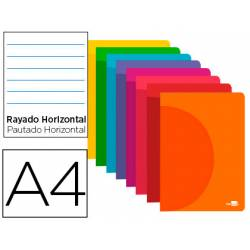 Libreta Liderpapel 360 A4 48 hojas 90g/m2 rayado horizontal colores surtidos (NO SE PUEDE ELEGIR)