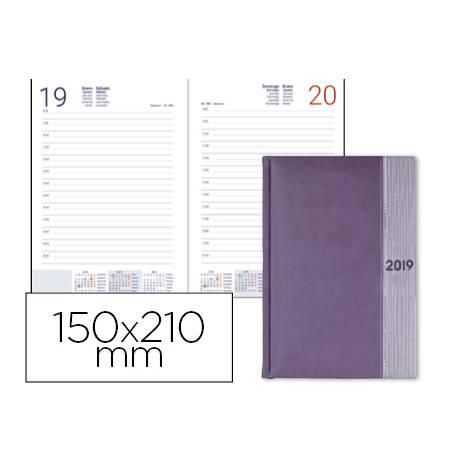 Agenda 2019 Encuadernada Chatzi Dia pagina 150x210 mm Lila Liderpapel