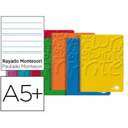 Bloc Liderpapel Cuarto Write Rayado Montessori 5 mm Surtidos