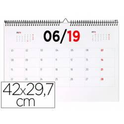 Calendario de pared 2019 42x29.7 cm 70gr Liderpapel