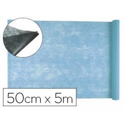 Entretela Liderpapel 25g/m2 rollo de 5m Celeste
