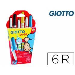 Rotulador Giotto Super Bebé Caja de 6 Colores Surtidos
