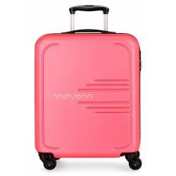Maleta de cabina rígida Movom Flash rosa 55x40x20cm