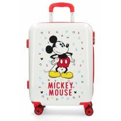 Maleta de cabina rígida Mickey Style letras roja 55x40x20cm