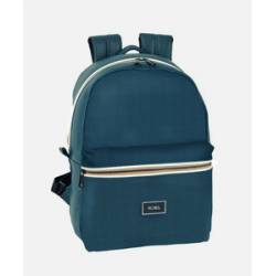 CARTERA ESCOLAR SAFTA MOOS CAPSULA BLUE BACKPACK 310X150X440 MM