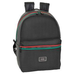 CARTERA ESCOLAR SAFTA MOOS CAPSULA BLACK BACKPACK 310X150X440 MM