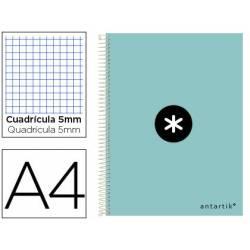 Cuaderno espiral Antartik DIN A4 Tapa dura 100g/m2 Mental