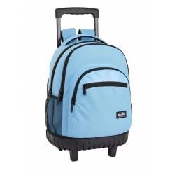 Mochila Escolar Blackfit8 45x32x21 cm Poliester Azul Con carro