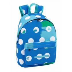 "CARTERA ESCOLAR SAFTA MOCHILA UCB ""DOTS"" DAY PACK ORDENADOR 14,1"" 310X160X410 MM"