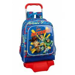 Mochila Escolar Toy Story 4 42x32x14 cm Poliester Con carro