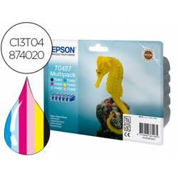 Cartucho Epson T0487 Multipack 6 colores C13T04874020