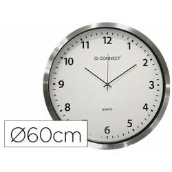 Reloj De Pared De Q Connect Cromado 60 Cm Diametro 600 Mm