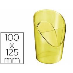 Cubilete Portalapices Esselte Colour Ice Plastico Color Amarillo 100x125x90 mm