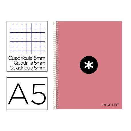 Cuaderno espiral Antartik Din A5 Tapa dura 100g/m2 Coral