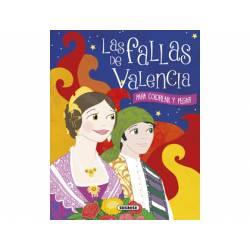 CUADERNO DE COLOREAR LAS FALLAS DE VALENCIA 128 PAGINAS 19,5X25 CM