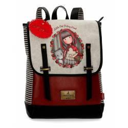"""Mochila para portatil 13,3"""" Gorjuss de Piel Sintetica Little Red Riding Hood"""
