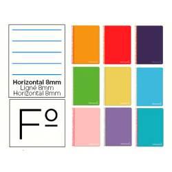 Cuaderno espiral Liderpapel Witty Tamaño Folio Tapa dura Rayado horizontal 75 g/m2 Con margen Color surtidos