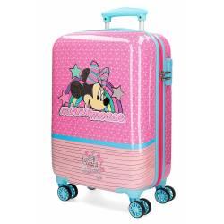 Maleta de cabina Minnie Pink Vibes rígida 55x34x20cm