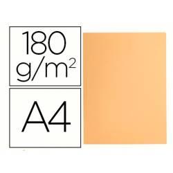 Subcarpeta cartulina Liderpapel Din A4 Naranja pastel 180g/m2