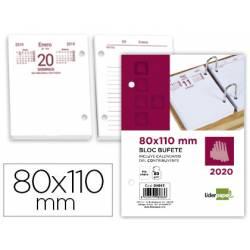 Recambio Bloc Bufete Anual 2020 Dia pagina 80x110 mm Liderpapel