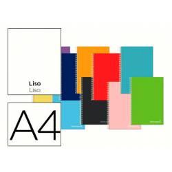Cuaderno espiral Liderpapel Jolly Tamaño DIN A4 Tapa forrada Liso 75 g/m2 5 bandas 4 taladros Colores surtidos