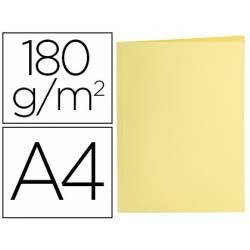 Subcarpeta de cartulina Liderpapel Din A4 Amarillo pastel 180g/m2