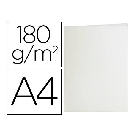 Subcarpeta de cartulina Liderpapel Din A4 Blanca 180g/m2