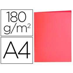 Subcarpeta de cartulina Liderpapel Din A4 Rojo pastel 180g/m2