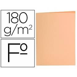 Subcarpeta de cartulina Liderpapel Tamaño folio Naranja pastel 180g/m2