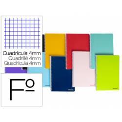 Cuaderno espiral Liderpapel folio smart Tapa blanda 80h 60gr cuadro 4mm con margen Colores surtidos (no se puede elegir)