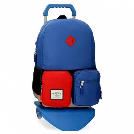 Mochila Escolar Pepe Jeans Dany con Carro Azul (61223T1)