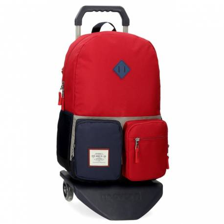 Mochila Escolar Pepe Jeans Dany con Carro Roja (61223T2)