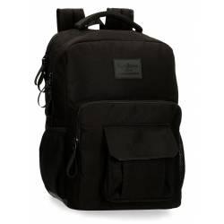 """Mochila para portátil 15,6"""" Dos Compartimentos Pepe Jeans Denton Negro (7172421)"""