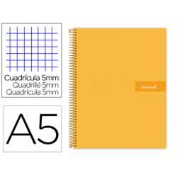 Bloc liderpapel Din A5 micro crafty cuadrícula 5mm tapa forrada 90 gr color naranja