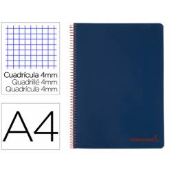 Bloc Liderpapel Din A4 wonder cuadrícula 4mm tapa polipropileno 90 gr color azul
