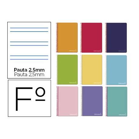"Bloc Liderpapel Folio witty pauta 2,5mm tapa dura 75 gr color ""no se puede elegir"""
