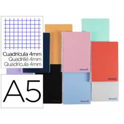 """Bloc Liderpapel DIN A5 wonder cuadro 4mm con margen tapa plástico 90 gr color """"no se puede elegir"""""""
