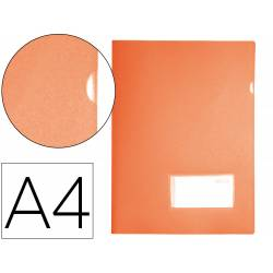 Carpeta dossier broche Liderpapel DIN A4 polipropileno 180 micras 20 hojas color naranja