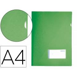 Carpeta dossier broche Liderpapel DIN A4 polipropileno 180 micras 20 hojas color verde