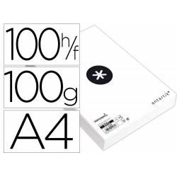 PAPEL LIDERPAPEL A4 ANTARTIK 100G/M2 PAQUETE DE 100 HOJAS BLANCO LISO