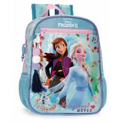 Mochila Frozen Awesome Moves Preescolar 28cm Adaptable (40521D1)