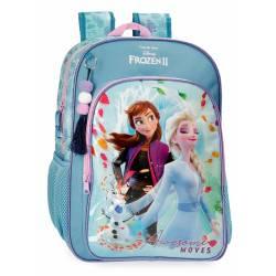 Mochila Frozen Awesome Moves Escolar 40cm Adaptable (40523D1)