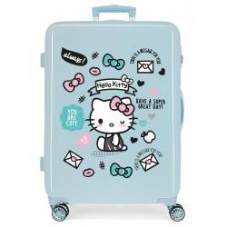Maleta Mediana HELLO KITTY rígida 68cm Azul