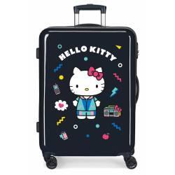Maleta Hello Kitty rígida 68cm Azul Marino